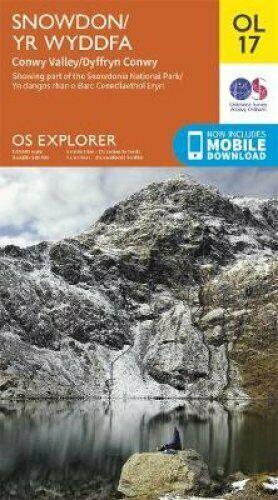 EXP-017  Snowdonia and Conwy Valley areas | wandelkaart 1:25.000 9780319263532  Ordnance Survey Explorer Maps 1:25t.  Wandelkaarten Noord-Wales, Anglesey, Snowdonia