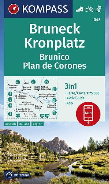 KP-045 Bruneck / Brunico | Kompass wandelkaart 9783990446188  Kompass Wandelkaarten Kompass Italië  Wandelkaarten Zuidtirol, Dolomieten, Friuli, Venetië, Emilia-Romagna