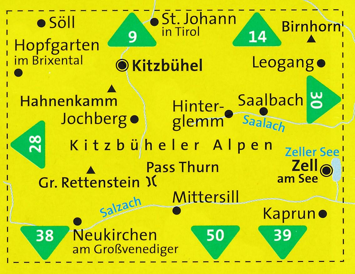 KP-29 Kitzbüheler Alpen | Kompass wandelkaart 9783990446331  Kompass Wandelkaarten Kompass Oostenrijk  Wandelkaarten Tirol & Vorarlberg