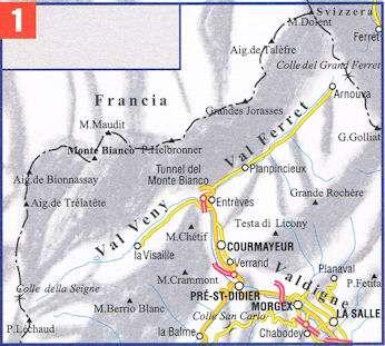 ESC-01  Monte Bianco, Courmayeur | wandelkaart 1:25.000 9788898520770  Escursionista   Wandelkaarten Ligurië, Piemonte, Lombardije
