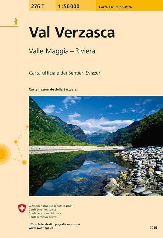 276T Val Verzasca [2015] 9783302302768  Bundesamt / Swisstopo SAW 1:50.000  Wandelkaarten Graubünden, Tessin