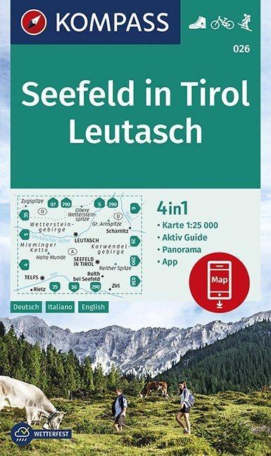 KP-026 Seefeld/Leutasch | Kompass wandelkaart 9783990445501  Kompass Wandelkaarten Kompass Oostenrijk  Wandelkaarten Tirol & Vorarlberg
