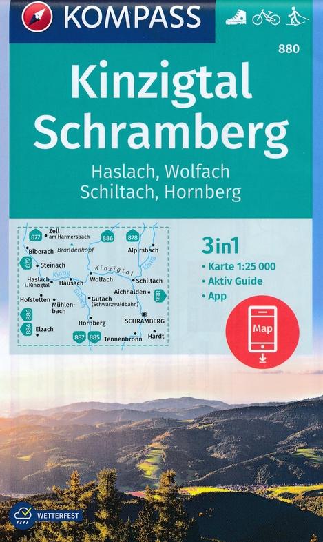 KP-880  Kinzigtal - Schramberg   Kompass 9783990445990  Kompass Wandelkaarten Kompass Duitsland  Wandelkaarten Zwarte Woud
