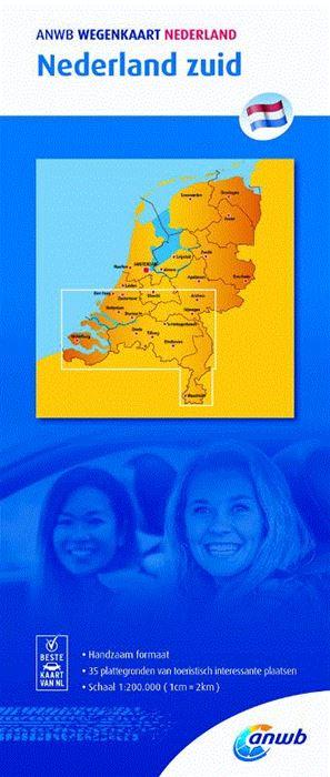 Zuid Nederland 1:200.000 9789018042028  ANWB Wegenkaarten  Landkaarten en wegenkaarten Zuid Nederland