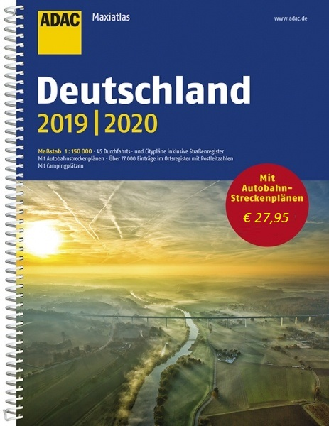 Deutschland Maxi-Atlas 1/150.000, 2019-2020 9783826422577  ADAC Wegenatlassen  Wegenatlassen Duitsland