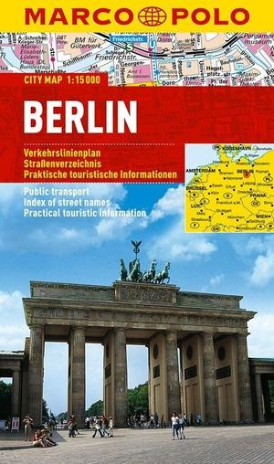 Berlin | Marco Polo stadsplattegrond Berlijn 1:15.000 * 9783829730921  Marco Polo (D) MP stadsplattegronden  Stadsplattegronden Berlijn