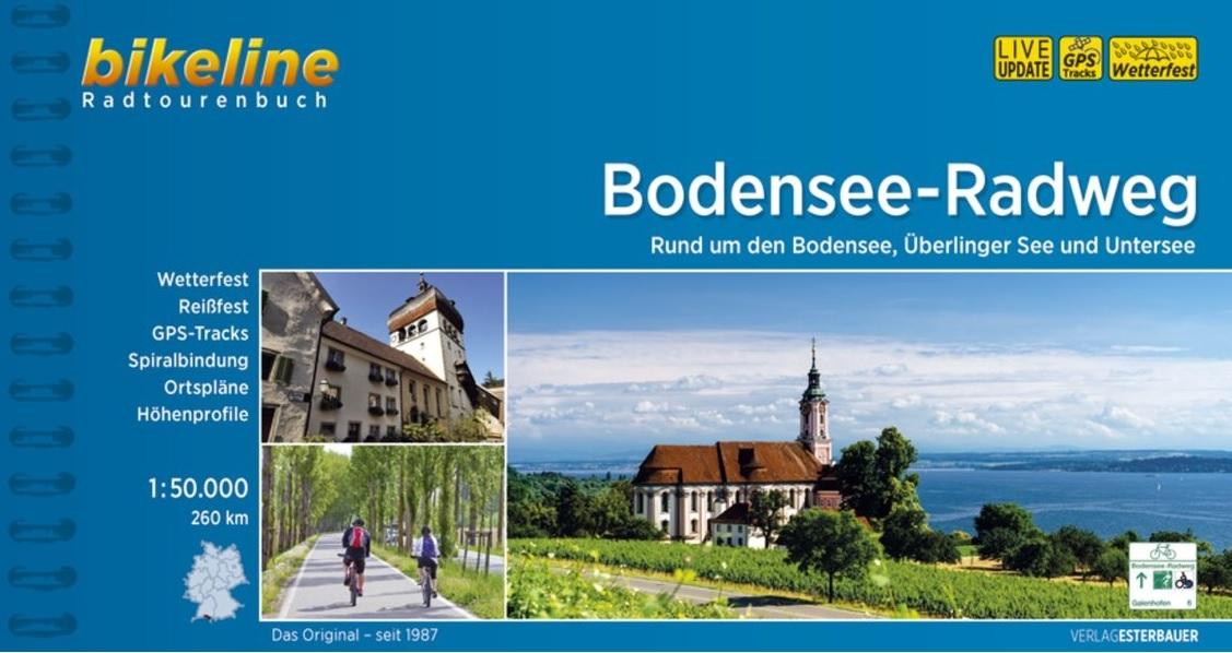 Bikeline Bodensee-Radweg (D/A/CH) | fietsgids 9783850007719  Esterbauer Bikeline  Fietsgidsen, Meerdaagse fietsvakanties Bodenmeer, Schwäbische Alb, Tirol & Vorarlberg