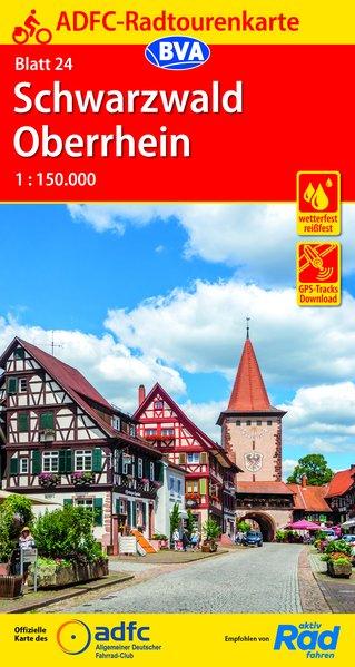 ADFC-24 Schwarzwald/Oberrhein (Zwarte Woud) | fietskaart 1:150.000 9783870739119  ADFC / BVA Radtourenkarten 1:150.000  Fietskaarten Zwarte Woud