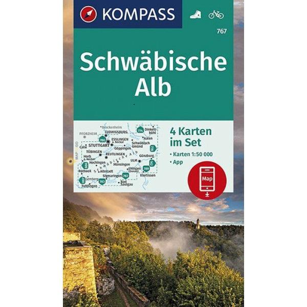 KP-767 Schwäbische Alb | Kompass wandelkaart 1:50.000 9783990445952  Kompass Wandelkaarten Kompass Duitsland  Wandelkaarten Bodenmeer, Schwäbische Alb