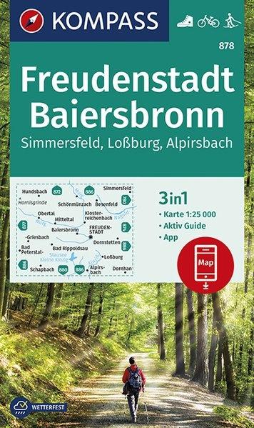KP-878 Freudenstadt, Baiersbronn 1:25.000 | Kompass 1:25.000 9783990445983  Kompass Wandelkaarten Kompass Duitsland  Wandelkaarten Zwarte Woud