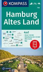 KP-726 Hamburg - Altes Land | Kompass wandelkaart 1:50.000 9783990446133  Kompass Wandelkaarten Kompass Duitsland  Fietskaarten, Wandelkaarten Hamburg