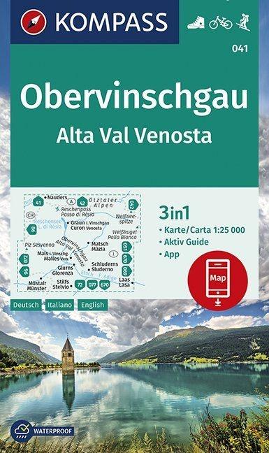 KP-041 Vinschgauer Oberland | Kompass wandelkaart 9783990446171  Kompass Wandelkaarten Kompass Italië  Wandelkaarten Zuidtirol, Dolomieten, Friuli, Venetië, Emilia-Romagna