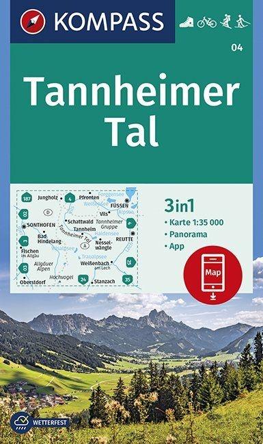 KP-04 Tannheimer Tal | Kompass wandelkaart 9783990446317  Kompass Wandelkaarten Kompass Oostenrijk  Wandelkaarten Tirol & Vorarlberg