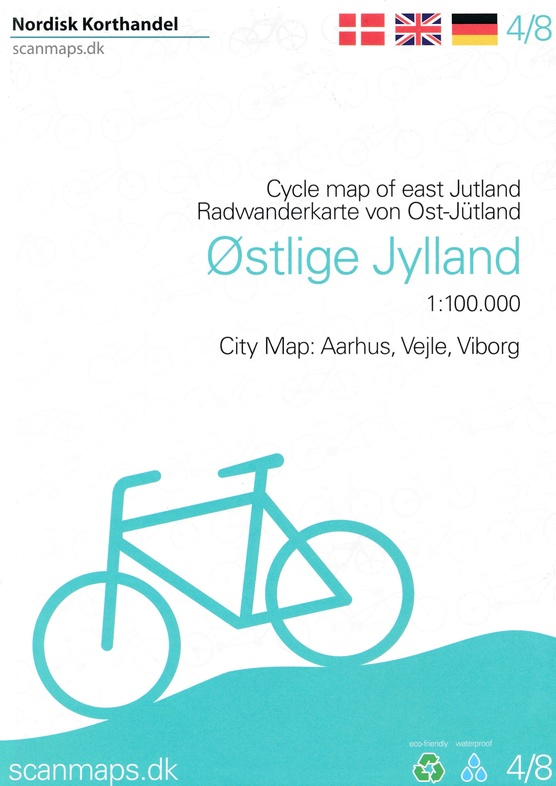 SM-4  Oost-Jutland fietskaart 1:100.000 9788779671645  Scanmaps fietskaarten Denemarken  Fietskaarten Denemarken