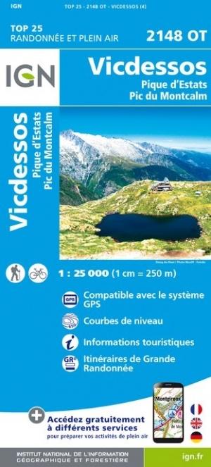 2148OT   Vicdessos | wandelkaart 1:25.000 9782758545293  IGN TOP 25  Wandelkaarten Franse Pyreneeën, Toulouse, Gers, Garonne