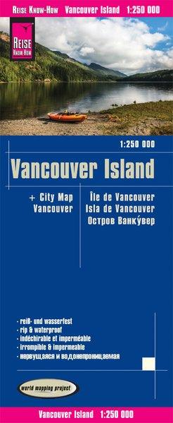 landkaart, wegenkaart Vancouver Island 1:250.000 9783831774258  Reise Know-How WMP Polyart  Landkaarten en wegenkaarten West-Canada, Rockies