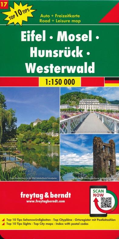 Overzichtskaart Eifel - Hunsrück - Westerwald 1:150.000 9783707918212  Freytag & Berndt F&B deelkaarten Duitsland  Landkaarten en wegenkaarten Eifel