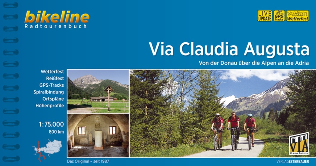 Bikeline Via Claudia Augusta | fietsgids 9783850008051  Esterbauer Bikeline  Fietsgidsen, Meerdaagse fietsvakanties Zwitserland en Oostenrijk (en Alpen als geheel)