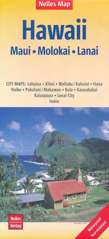 Hawaii 3: Maui/Molokai | wegenkaart - overzichtskaart 9783865745477  Nelles Nelles Maps  Landkaarten en wegenkaarten Hawaii