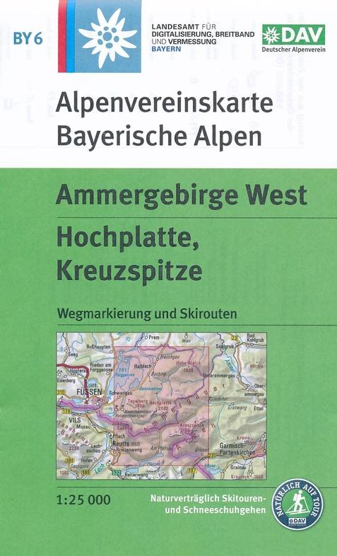 BY-06 Ammergebirge West   Alpenvereinskaart 1:25.000 9783937530895  Deutscher AlpenVerein Alpenvereinskarten  Wandelkaarten Beierse Alpen