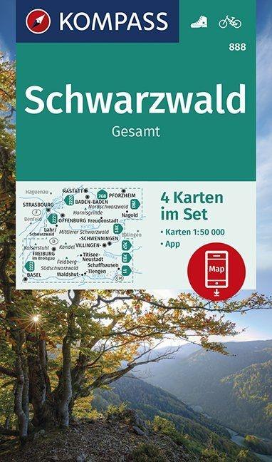 KP-888 Schwarzwald   Kompass wandelkaart Zwarte Woud 9783990447048  Kompass Wandelkaarten Kompass Duitsland  Wandelkaarten Zwarte Woud