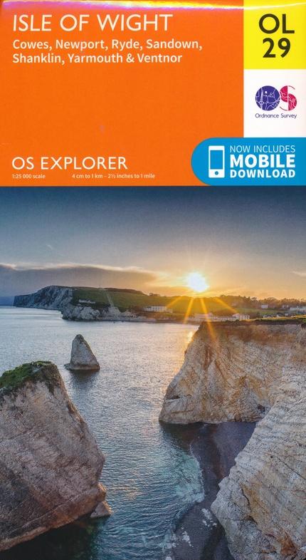 EXP-029  Isle of Wight  OL29 | wandelkaart 1:25.000 9780319263631  Ordnance Survey Explorer Maps 1:25t.  Wandelkaarten Zuidoost-Engeland, Kent, Sussex, Isle of Wight