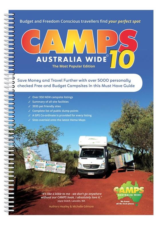 Camps Australia Wide 9780992573287  Hema Maps   Campinggidsen, Wegenatlassen Australië
