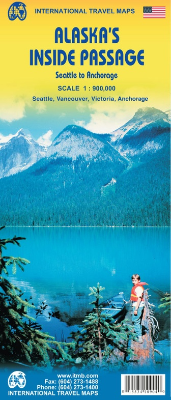 Alaska's Inside Passage   landkaart, autokaart 1:900.000 9781553410904  ITM   Landkaarten en wegenkaarten Alaska, West-Canada, Rockies
