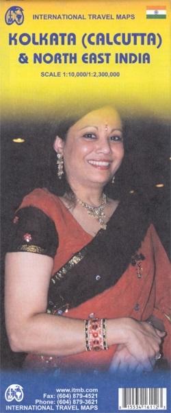 Kolkata/Calcutta 1:10.000 & NE India 1:2,3m. 9781553416111  ITM   Landkaarten en wegenkaarten, Stadsplattegronden India