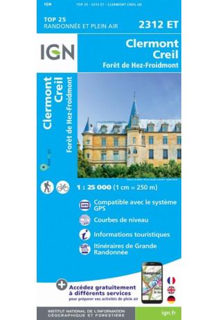 2312ET  Clermont, Creil | wandelkaart 1:25.000 9782758546429  IGN TOP 25  Wandelkaarten Parijs, Île-de-France
