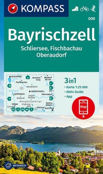 KP-008  Bayrischzell | Kompass wandelkaart 1:25.000 9783990447208  Kompass Wandelkaarten Kompass Duitsland  Wandelkaarten Beierse Alpen