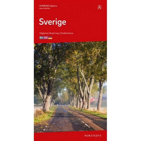 Sverige 1:900.000 9789113084213  Kartförlaget - Lantmäteriet   Landkaarten en wegenkaarten Zweden