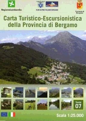 Foglio 7 | wandelkaart 1:25.000 INGENIA F.07  Ingenia / CAI Bergamo Provincia di Bergamo 1:25.000  Wandelkaarten Ligurië, Piemonte, Lombardije