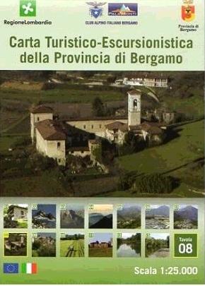Foglio 8   wandelkaart 1:25.000 INGENIA F.08  Ingenia / CAI Bergamo Provincia di Bergamo 1:25.000  Wandelkaarten Ligurië, Piemonte, Lombardije