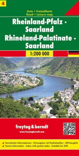 FBD-04  Rheinland-Pfalz, Saarland 1:200.000 9783707900552  Freytag & Berndt Duitsland 1:200.000  Landkaarten en wegenkaarten Eifel