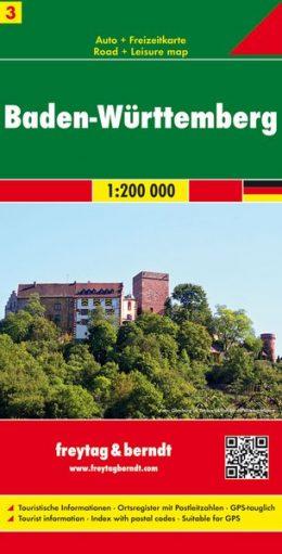 FBD-03  Baden-Württemberg 1:200.000 9783707900675  Freytag & Berndt Duitsland 1:200.000  Landkaarten en wegenkaarten Baden-Württemberg