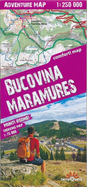 Bucovina / Maramures 1:250.000 overzichtskaart / wegenkaart 9788361155447  TerraQuest   Landkaarten en wegenkaarten, Wandelkaarten Roemenië, Moldavië