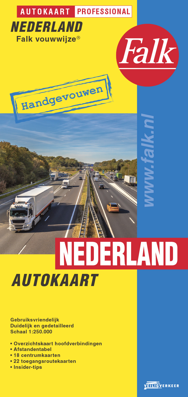 Nederland 1:250.000 9789028701007  Falk Autokaarten  Landkaarten en wegenkaarten Nederland