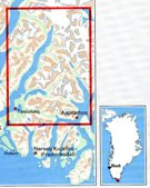 GHM-05  Nanortalik 1:100.000 0257046  Kort-og Matrikelstyrelsen Greenl. Hiking Maps  Wandelkaarten Groenland