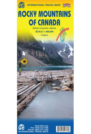Rocky Mountains of Canada | landkaart, autokaart 1:900.000 9781771296687  ITM   Landkaarten en wegenkaarten West-Canada, Rockies