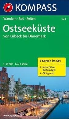 KP-724 Ostseeküste | Kompass wandelkaart * 9783850262033  Kompass Wandelkaarten Kompass Duitsland  Wandelkaarten Schleswig-Holstein, Lübeck