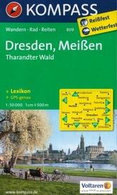 KP-809 Dresden/Meissen | Kompass wandelkaart * 9783850268585  Kompass Wandelkaarten Kompass Duitsland  Wandelkaarten Erzgebirge, Elbsandsteingebirge, Lausitz