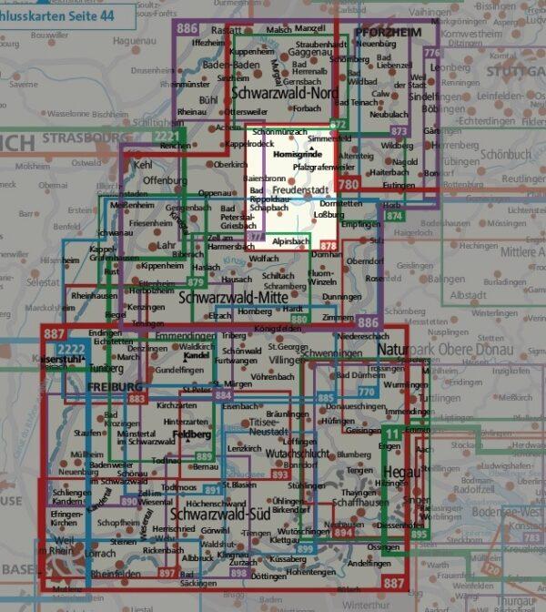 KP-878 Freudenstadt, Baiersbronn 1:25.000   Kompass 1:25.000 9783990445983  Kompass Wandelkaarten Kompass Duitsland  Wandelkaarten Zwarte Woud