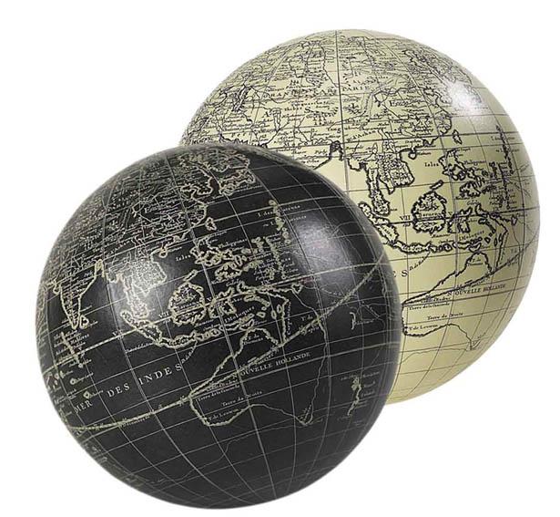 Vaugondy Globe, black GL211  Authentic Models Globes / Wereldbollen  Globes Wereld als geheel