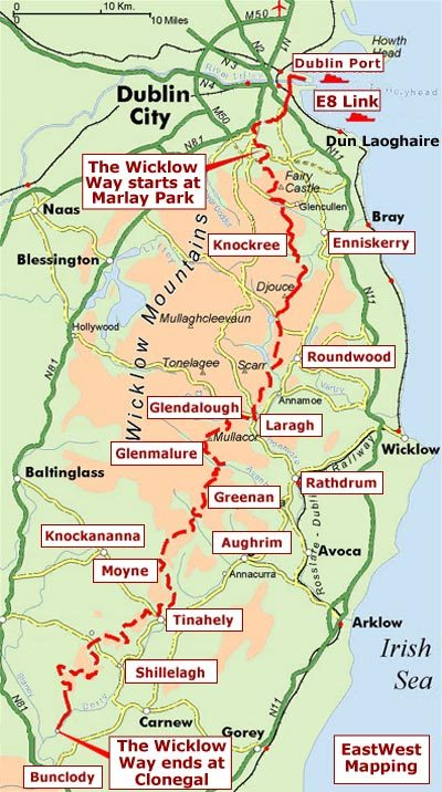 The Wicklow Way | wandelgids (met kaarten) 9781898481904  Rucksack Readers   Meerdaagse wandelroutes, Wandelgidsen Wicklow Mountains, Leinster