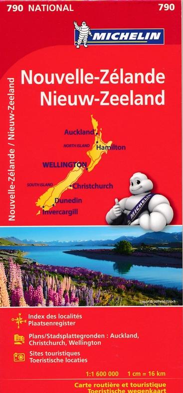 790 Nieuw-Zeeland 1:1.600.000 9782067217188  Michelin   Landkaarten en wegenkaarten Nieuw Zeeland
