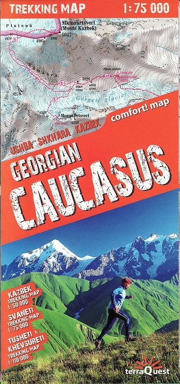 Georgian Caucasus 1: 75 000 trekking maps 9788361155676  TerraQuest   Wandelkaarten Georgië