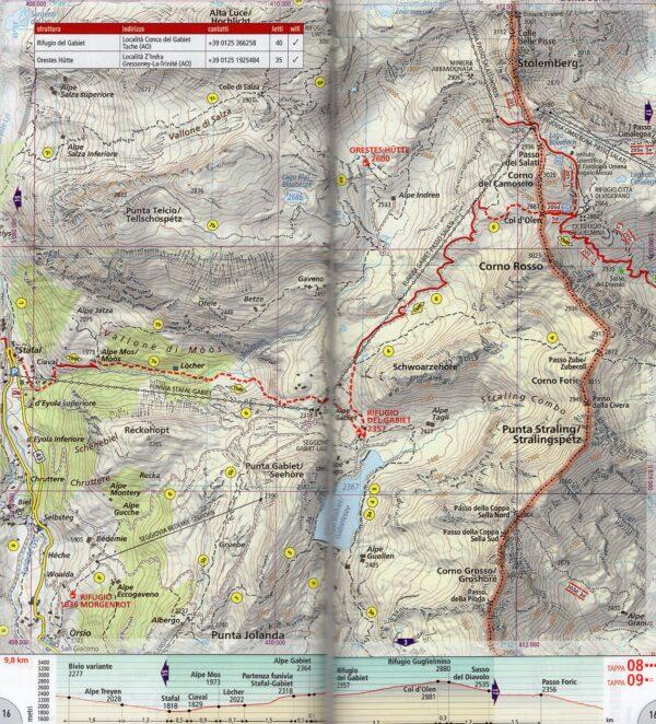 Tour del Monte Rosa | wandelatlas 1:25.000 9788869853319  National Geographic   Meerdaagse wandelroutes, Wandelkaarten Ligurië, Piemonte, Lombardije, Wallis