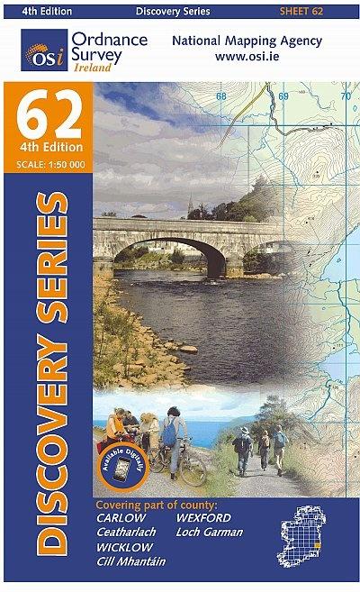 DM-62  Clare East 9781907122910  Ordnance Survey Ireland Discovery Maps 1:50.000  Wandelkaarten Wicklow Mountains, Leinster