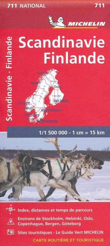 711 Scandinavië 1:1,5m 9782067170476  Michelin   Landkaarten en wegenkaarten Scandinavië & de Baltische Staten